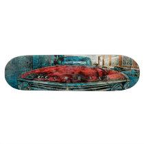 artsprojekt, ill, chevy'rhino, mission, ride, off, sanfrancisco, Skateboard with custom graphic design