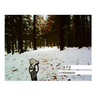 i'll commune postcard