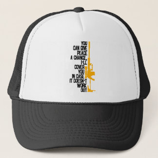 I'll Cover You With Rifle (Light) Trucker Hat