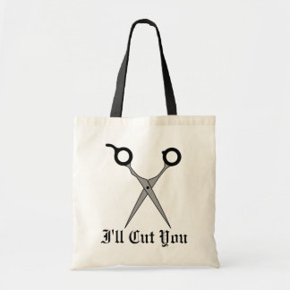 I'll Cut You (Black Hair Cutting Scissors) Tote Bag