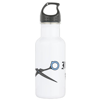 I'll Cut You (Blue Hair Cutting Scissors) Stainless Steel Water Bottle