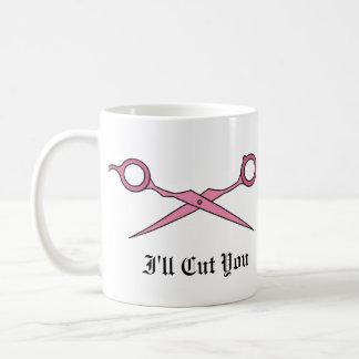I'll Cut You (Pink Hair Cutting Scissors) Classic White Coffee Mug