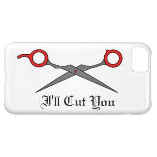 I'll Cut You (Red Hair Cutting Scissors) iPhone 5C Case