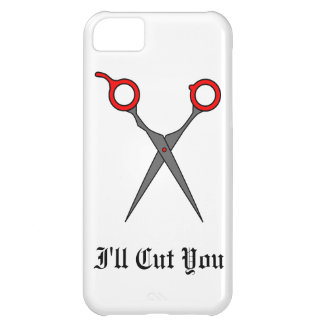 I'll Cut You (Red Hair Cutting Scissors) Cover For iPhone 5C