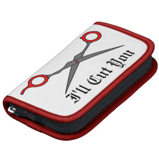 I'll Cut You (Red Hair Cutting Scissors) Planner