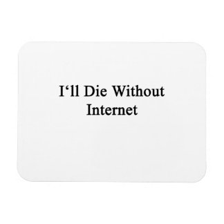 I'll Die Without Internet Rectangular Photo Magnet