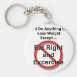 I'll do anything to lose weight except ... keychain