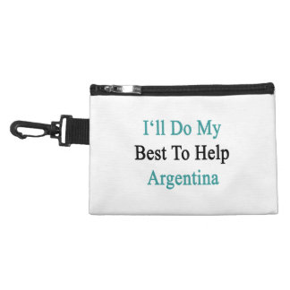 I'll Do My Best To Help Argentina Accessory Bag