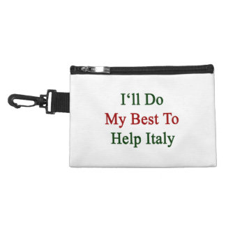 I'll Do My Best To Help Italy Accessory Bags