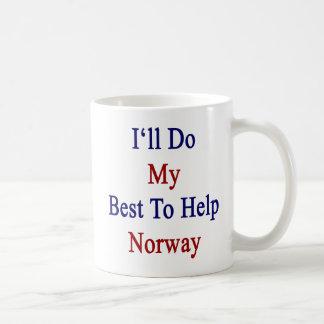 I'll Do My Best To Help Norway Coffee Mug