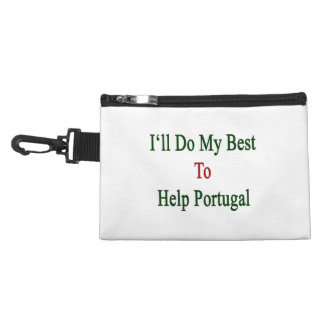I'll Do My Best To Help Portugal Accessory Bags