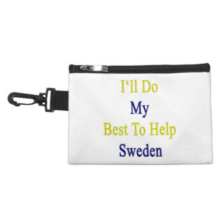 I'll Do My Best To Help Sweden Accessory Bag