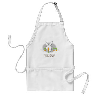 I'll eat whatever I want to eat (customizable) Adult Apron