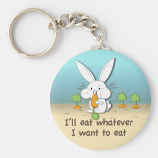 I'll eat whatever I want to eat (customizable) Keychain