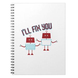 Ill Fix You Spiral Note Books