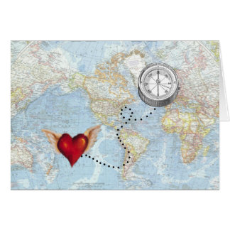 """I'll Follow My Heart"" Long Distance Relationship Card"