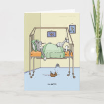Ill Gatto Get Well Card