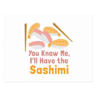 Ill Have Sashimi Postcard