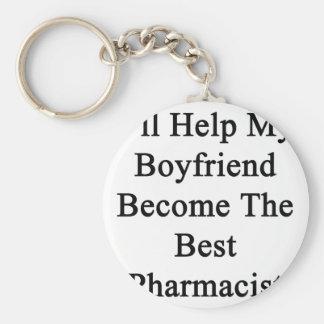 I'll Help My Boyfriend Become The Best Pharmacist. Basic Round Button Keychain