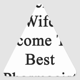 I'll Help My Wife Become The Best Pharmacist Triangle Sticker