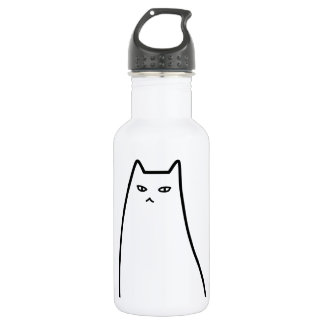 < Ill-humored cat >Sullen cat Stainless Steel Water Bottle