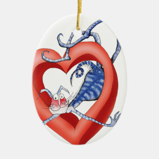i'll jump through hoops for you, tony fernandes ceramic ornament