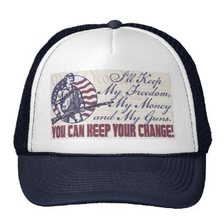 I'll Keep My Guns, Freedom Money 2nd Amendment Trucker Hats