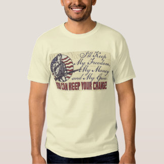 I'll Keep My Guns, Freedom Money 2nd Amendment T Shirts