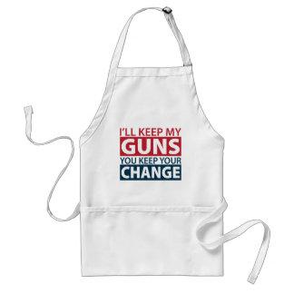 I'll Keep My Guns, You Keep Your Change Adult Apron