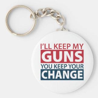 I'll Keep My Guns, You Keep Your Change Key Chain
