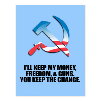 I'LL KEEP MY MONEY, FREEDOM, AND GUNS POST CARDS