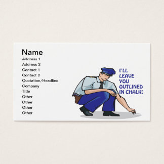 Ill Leave You Outlined In Chalk Business Card