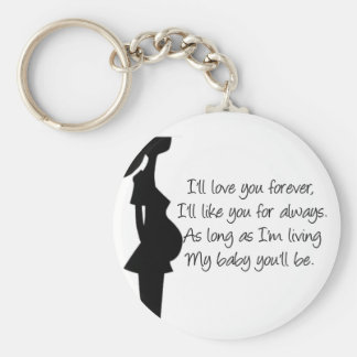 I'll love you forever basic round button keychain