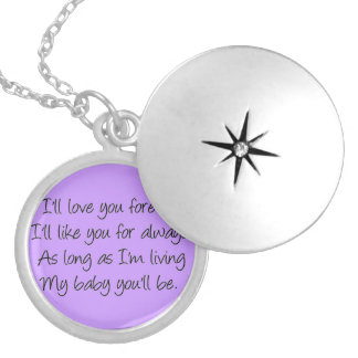 I'll love you forever locket necklace