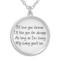 I'll love you forever necklace
