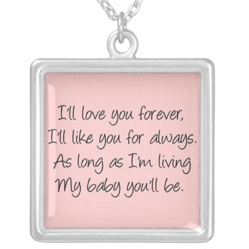 I'll love you forever jewelry