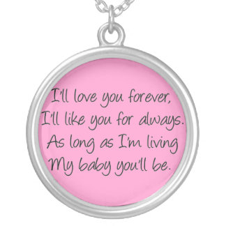 I'll love you forever necklaces