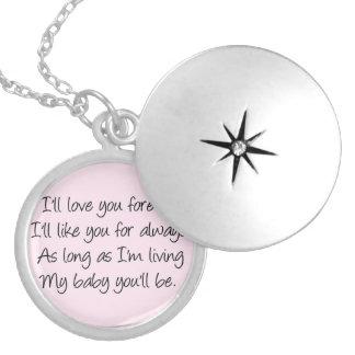 I'll love you forever pendant