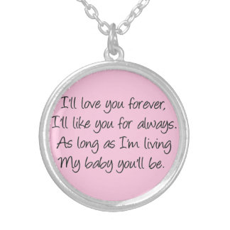 I'll love you forever silver plated necklace