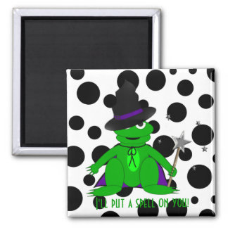 I'll put a spell on you! Magical Frog Magnet