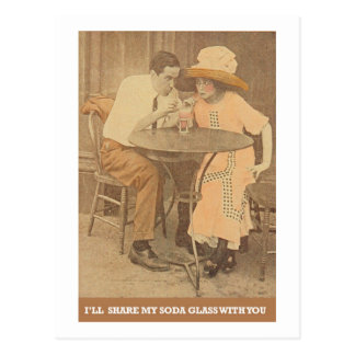 I'll Share My Soda Glass with You Postcards