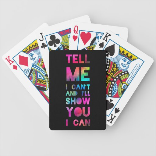 I'll Show You I Can Rainbow Playing Cards