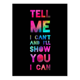 I'll Show You I Can Rainbow Postcard