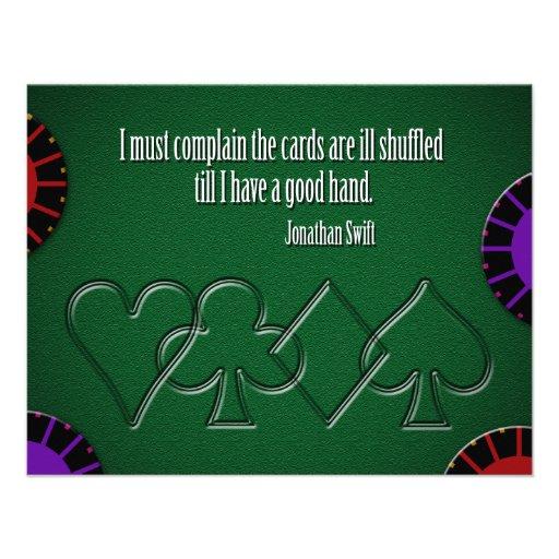 Ill Shuffled Cards Custom Invites