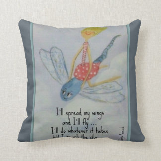 I'll spread my wings and I'll fly Throw Pillow