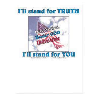 I'll stand for TRUTH... Postcard