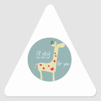 I'll stick my neck out for you triangle sticker