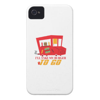 I'll Take My Burger To Go Case-Mate iPhone 4 Cases