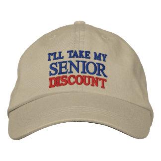 I'LL TAKE MY SENIOR DISCOUNT BASEBALL CAP