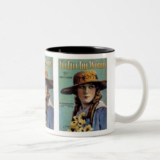 I'll Tell The World Two-Tone Coffee Mug